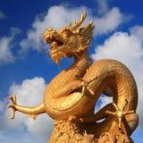 небо голубого ясного дракона золотистое Стоковые Фото
