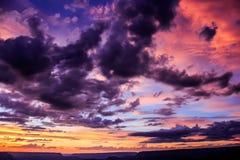 Небо гранд-каньона величественное Стоковое Изображение RF