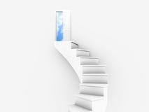 небо двери к иллюстрация вектора
