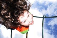 небо девушки Стоковое Изображение RF