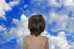 небо девушки Стоковое Изображение