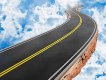 небо дороги Стоковое Изображение