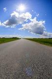 небо дороги Стоковые Фото