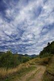 Небо лета в горах Apuseni Стоковое фото RF