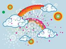 Небо лета радужное иллюстрация вектора