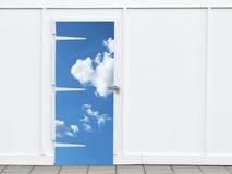 небо закрынное дверью Стоковое Изображение