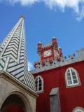 Небо замка Sintra стоковые фотографии rf