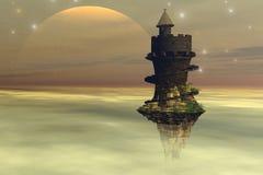 небо замока Стоковая Фотография