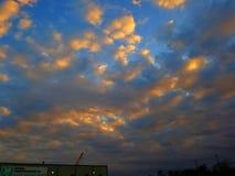 Небо захода солнца восхода солнца речной воды Хьюстона Техаса outdoors стоковая фотография rf