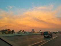 Небо захода солнца восхода солнца речной воды Хьюстона Техаса outdoors стоковые фото