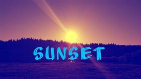 Небо захода солнца около реки Стоковое Фото