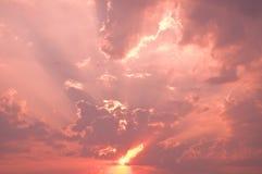Небо захода солнца вечера Стоковое фото RF