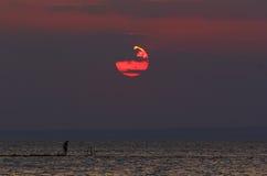 Небо захода солнца летнего отпуска Солнця Стоковая Фотография RF