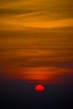 Небо захода солнца на национальном парке Phukradueng стоковое изображение rf