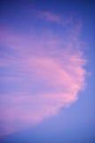 Небо захода солнца с розовыми облаками Стоковая Фотография