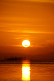 Небо захода солнца, Таиланд стоковые изображения