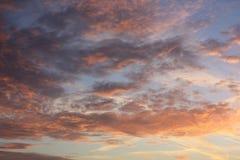 Небо захода солнца Стоковая Фотография RF