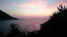 Небо захода солнца Стоковое фото RF