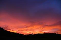 Небо захода солнца Стоковые Фото