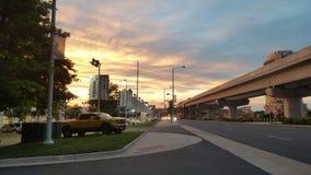Небо захода солнца Стоковое Изображение
