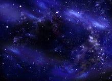 Небо звездной ночи, предпосылка галактики Стоковые Изображения