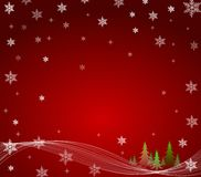 Небо звезды рождественских елок Стоковое фото RF