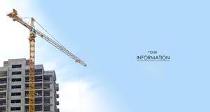 Небо здания подъема крана Стоковое Фото