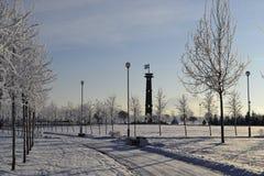 Небо зимы Стоковые Изображения