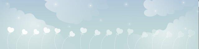 небо знамени мечт Стоковое Изображение RF