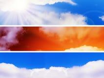 небо знамен Стоковое Изображение RF