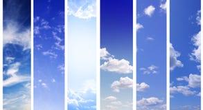 небо знамен Стоковое Изображение
