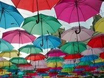Небо зонтиков стоковая фотография rf
