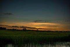 Небо золота стоковые фотографии rf
