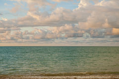 Небо и облака перед приходить дождя Стоковое фото RF