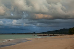Небо и облака перед приходить дождя Стоковая Фотография RF