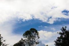 Небо и облако в зиме Стоковая Фотография