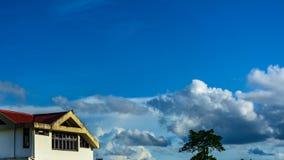 Небо и облака с голубым небом Стоковое Изображение RF