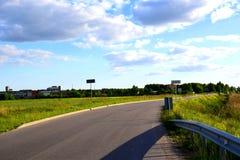 Небо и дорога Стоковые Изображения