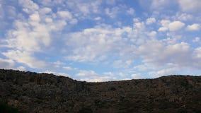 Небо и пейзаж утесов, среднеземноморской ландшафт природы, национальный парк Carmel Стоковая Фотография