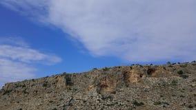 Небо и пейзаж утесов, среднеземноморской ландшафт природы, национальный парк Carmel Стоковая Фотография RF