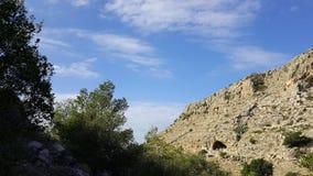 Небо и пейзаж утесов, среднеземноморской ландшафт природы, национальный парк Carmel Стоковое Фото