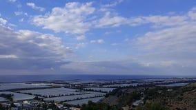 Небо и пейзаж утесов, среднеземноморской ландшафт природы, национальный парк Carmel Стоковое Изображение