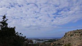 Небо и пейзаж утесов, среднеземноморской ландшафт природы, национальный парк Carmel Стоковые Фото
