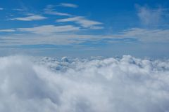 Небо и предпосылка облаков Стоковые Изображения RF
