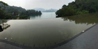 Небо и река taichung Стоковая Фотография