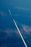 Небо и самолет Стоковое Фото