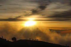 Небо и montain Стоковое Изображение