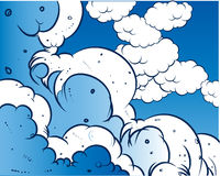 небо книги шуточное Стоковые Фото