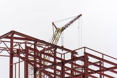 небо конструкции здания предпосылки голубое стеклянное новое сверкнает солнце Металл заварки построителя Стоковые Фото