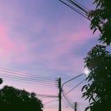 Небо конфеты хлопка стоковые фотографии rf